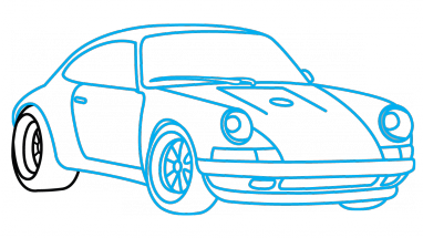 Race Car Drawing Easy