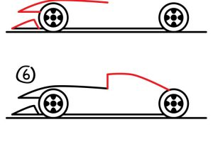 300x210 How To Draw A Car For Kids Step