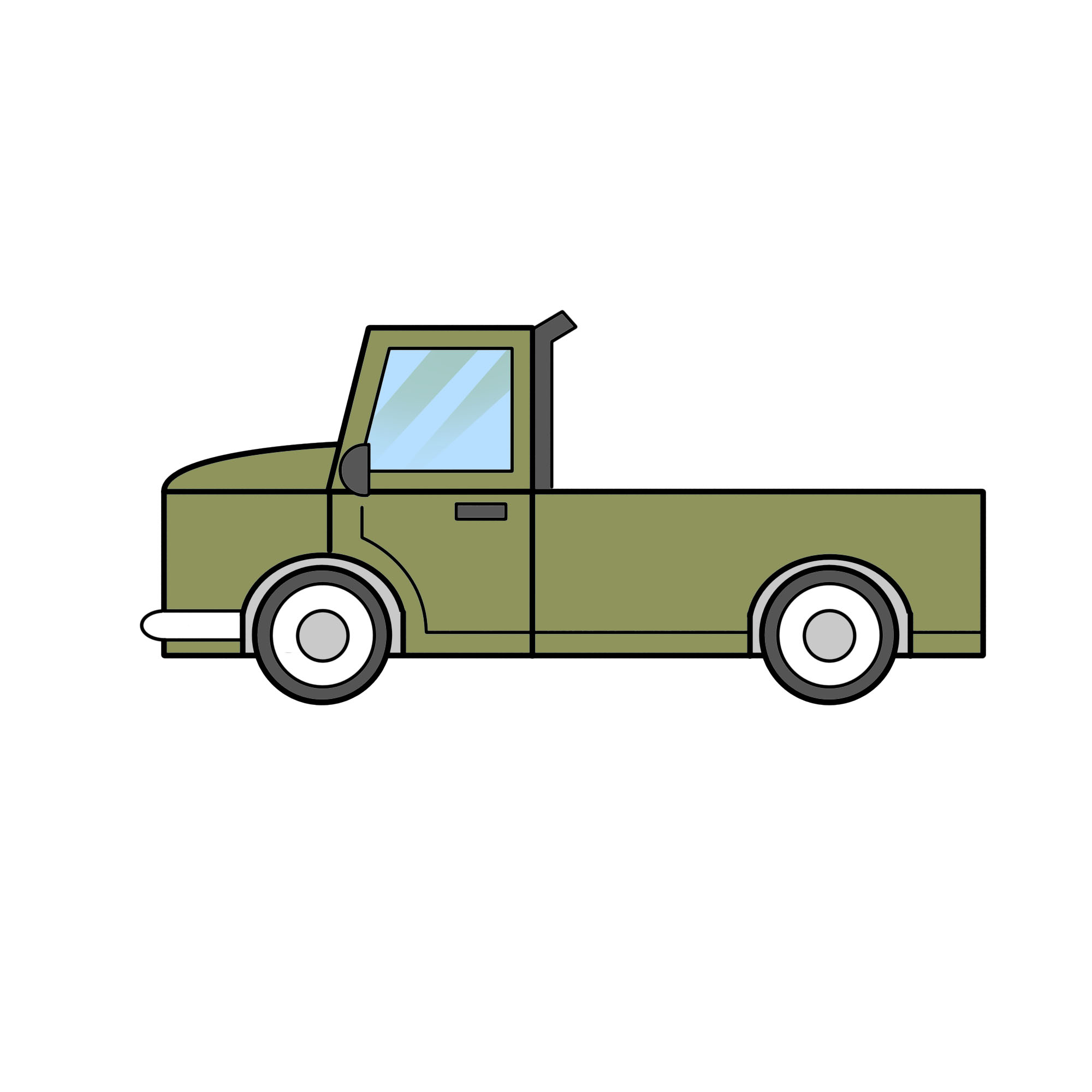 2000x2000 Easy Ways To Draw A Truck
