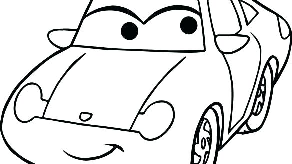 585x329 Race Car Coloring Pages Easy Of Cars Simple New Printable