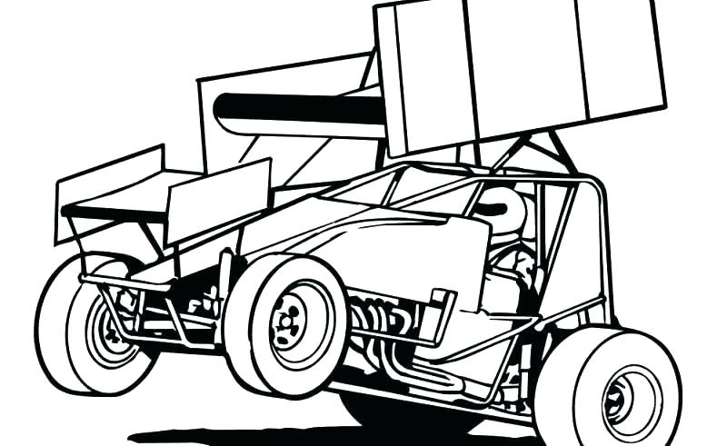 800x491 Dirt Late Model Coloring Pages Admirably Race Car Drawing Repair