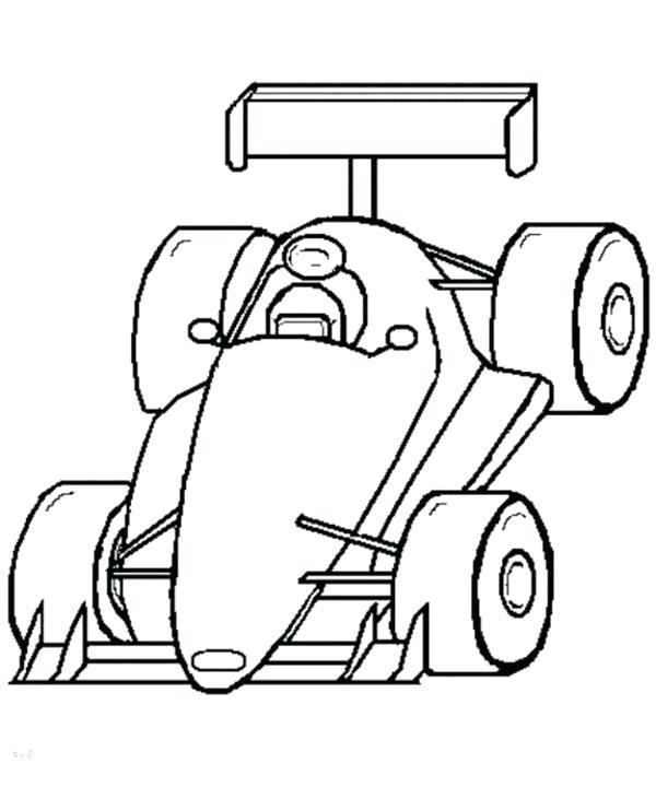 600x720 Race Car Drawing Template