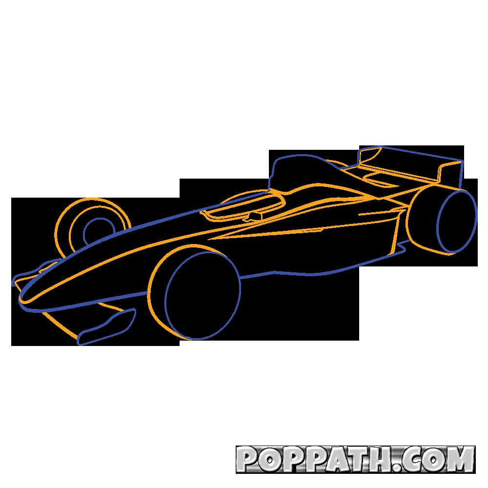 1000x1000 How To Draw A Formula One Car Pop Path