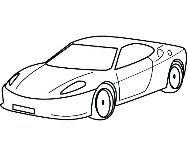 600x500 simple car coloring pages online race car pictures to color race