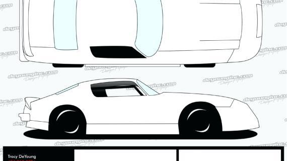 570x320 Race Car Drawing Template