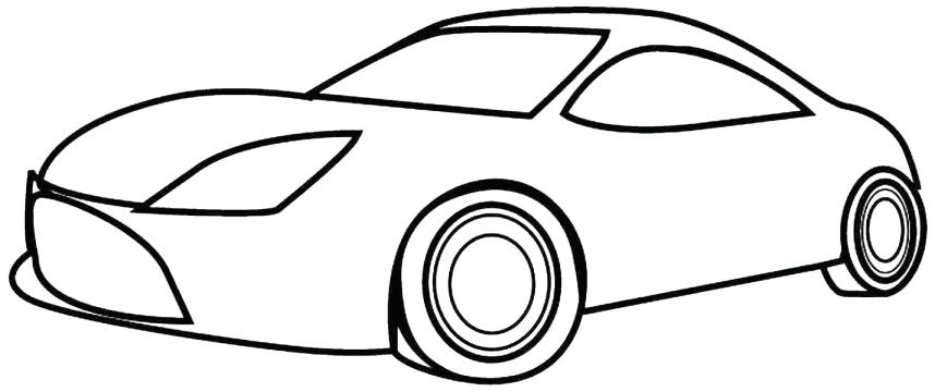 858x360 Race Car Drawing Template