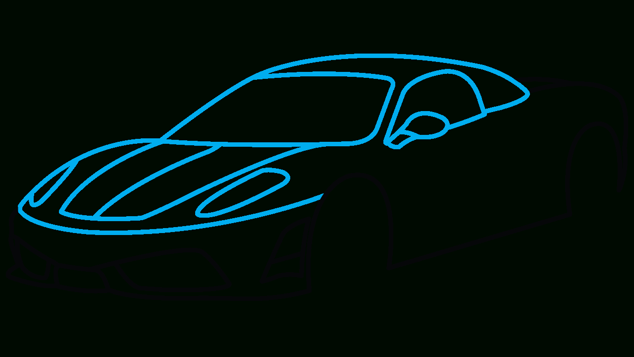1280x720 Car Drawings Step