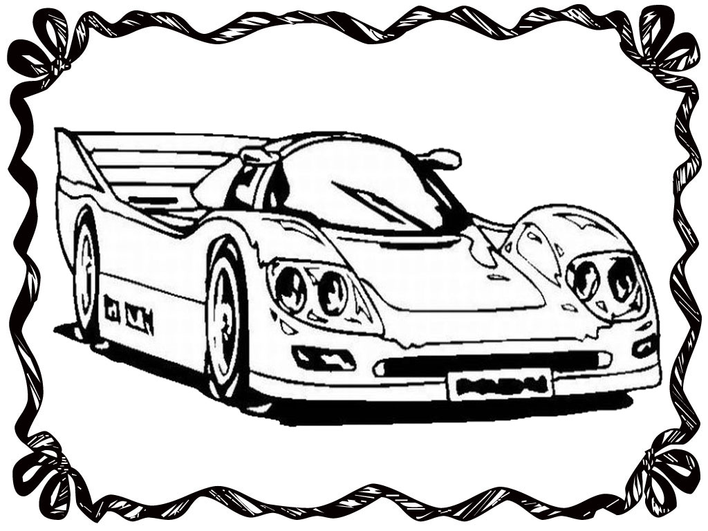 Race Car Outline Drawing
