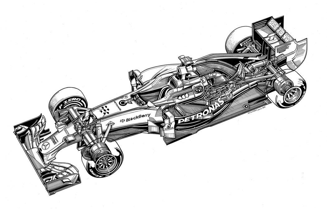 1050x670 Technical Drawings Of Mercedes Cars