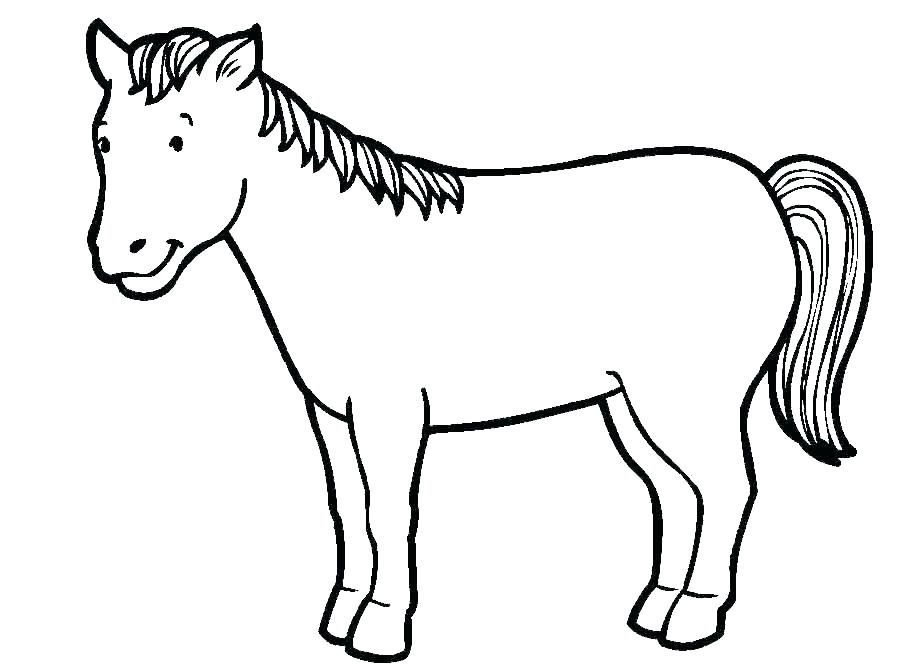 909x670 Coloring Pages Of Horses Horses Coloring Pages Horse Drawing Games