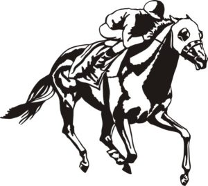 Race Horse Drawing