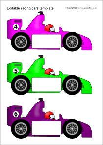 210x296 Editable Racing Car Templates