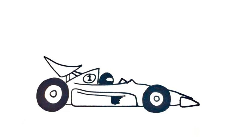 800x480 How To Draw A Race Car