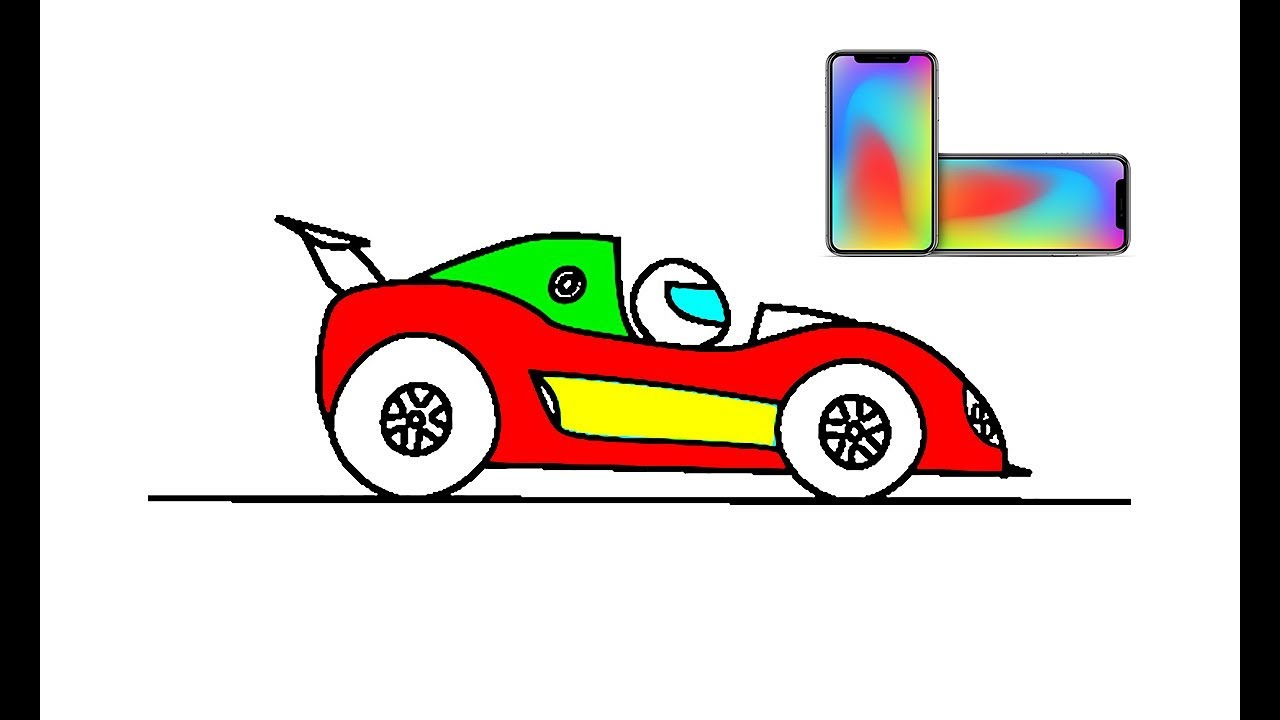 1280x720 How To Draw Easy Racing Car Coloring