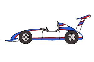 300x200 How To Draw A Formula Race Car