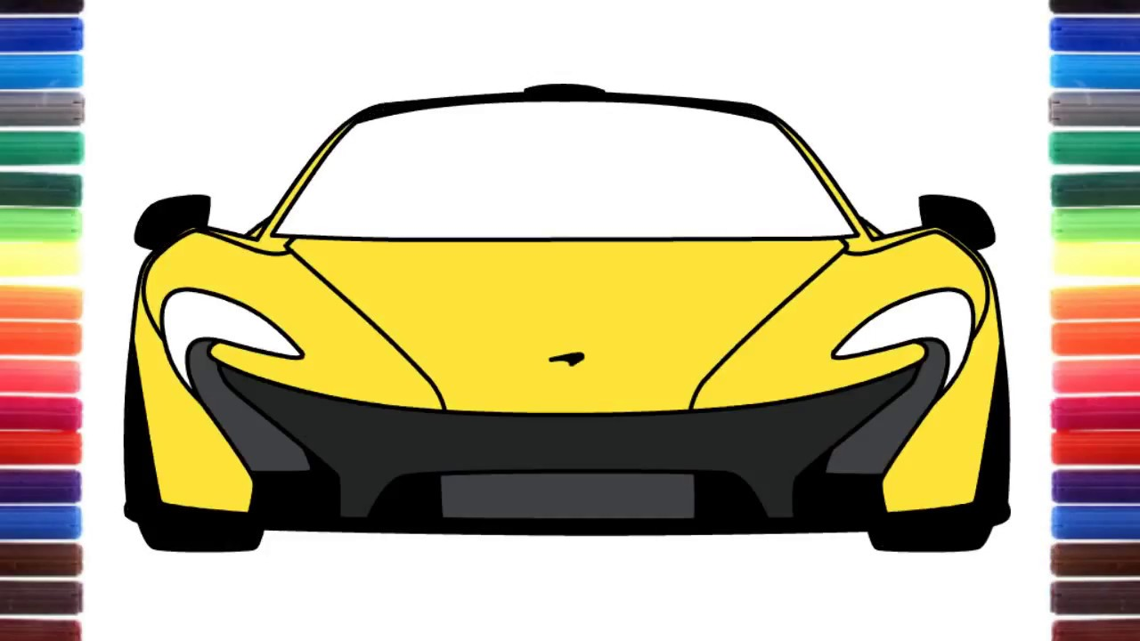 1280x720 How To Draw A Car Mclaren Front View Super Sport Car