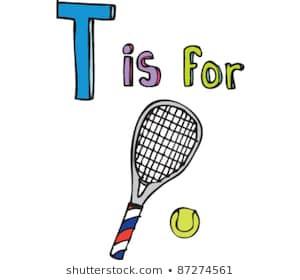 300x280 tennis racket drawing new drawing tennis racket stock vector