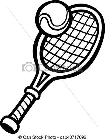 352x470 tennis racquet and ball clip art tennis racket drawing
