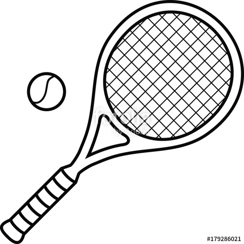 500x500 big tennis racket tennis ball stock image and royalty free vector