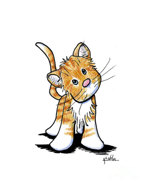 471x600 Whimsical Cat Drawings Fine Art America
