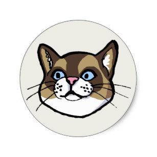 307x307 Cute Cat Drawings Stickers Zazzle Au