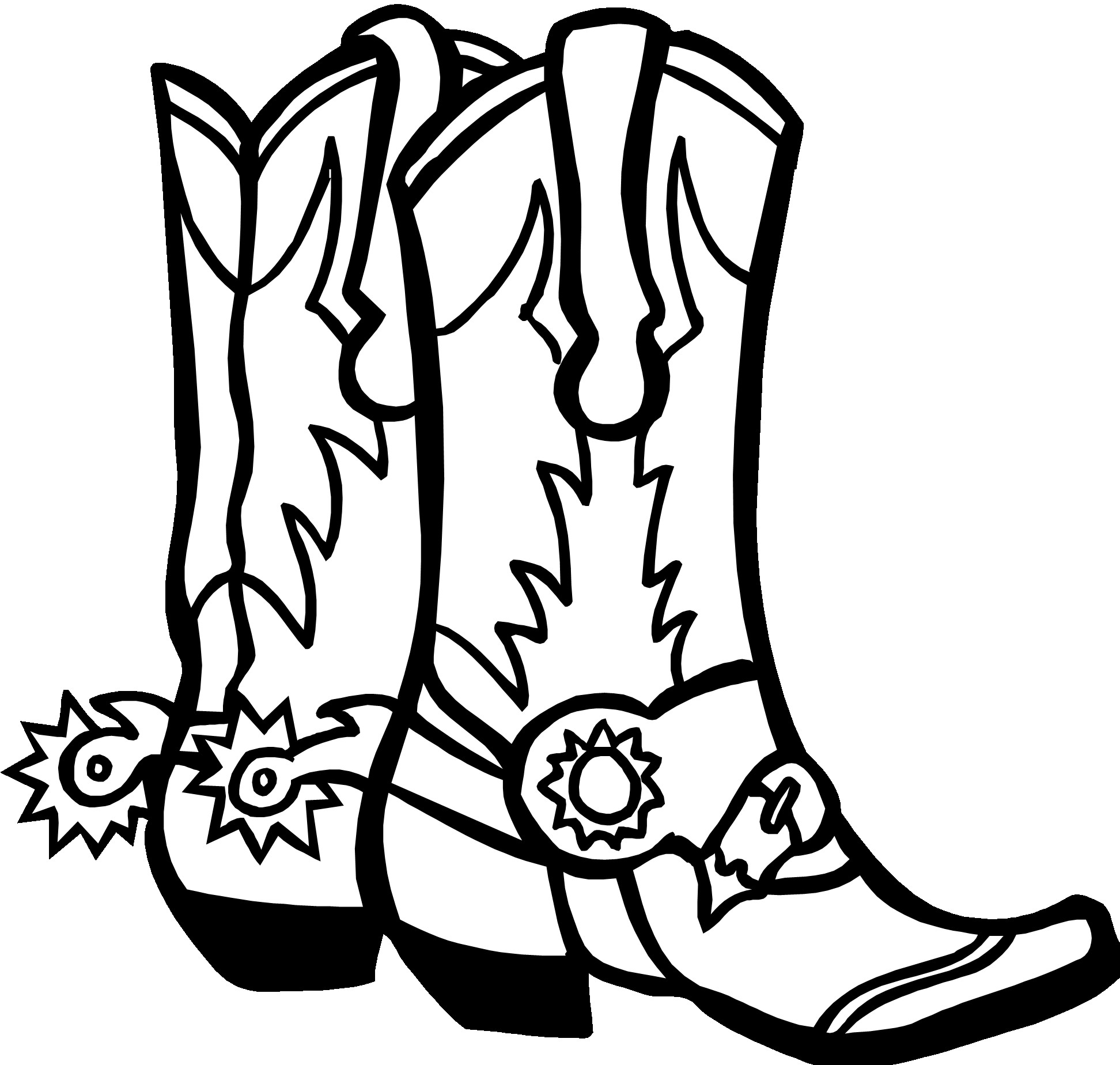 1944x1848 Cowboy Boots Drawing