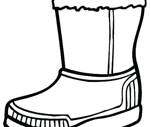 500x425 Rain Boot Coloring