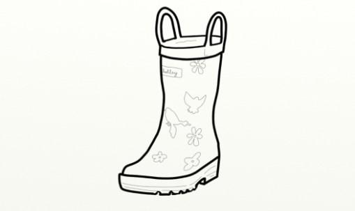 509x303 Rain Boots Coloring