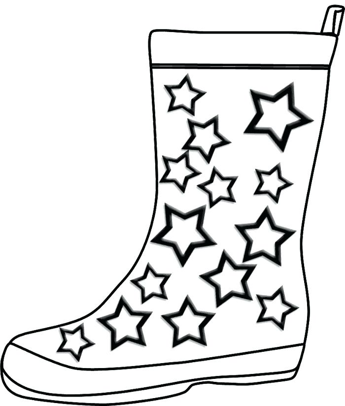 700x824 Rain Boots Coloring