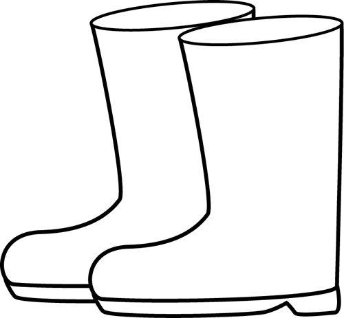 500x463 Rain Boots Clipart Black And White Clipartxtras