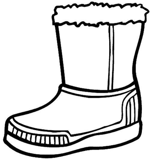 500x530 Winter Boots Large Coloring