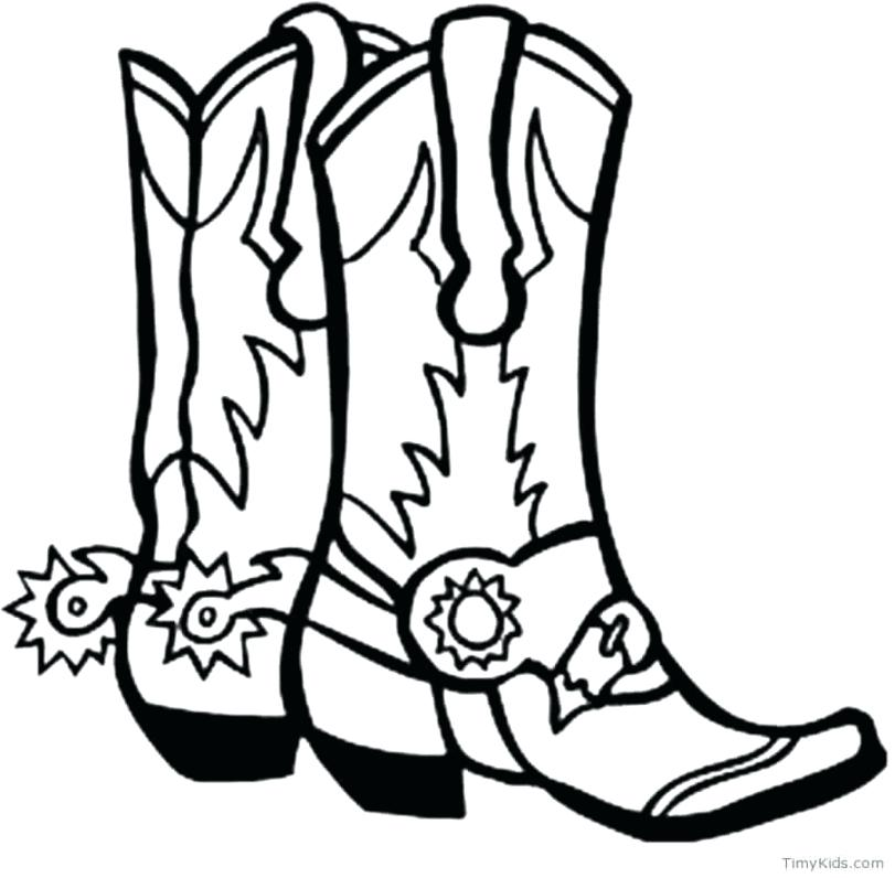 811x796 Boots Coloring Pages