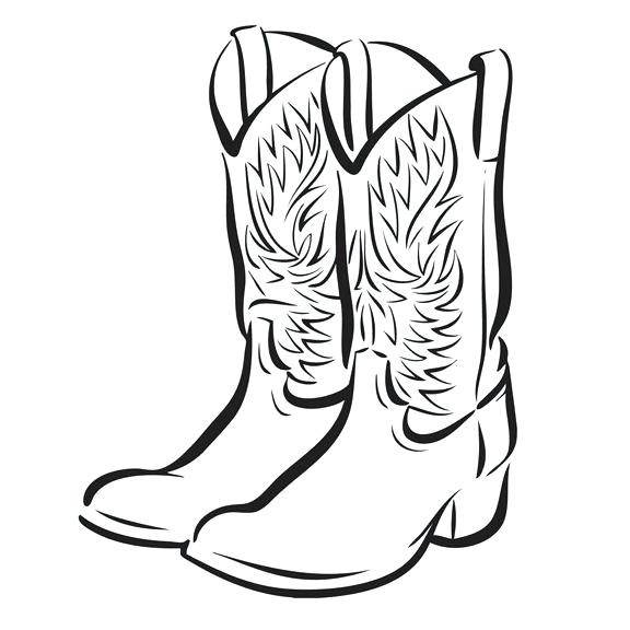 576x576 Drawing Of Boots