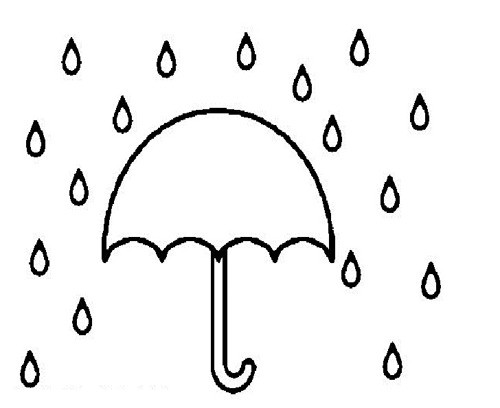 Rain Drawing For Kids