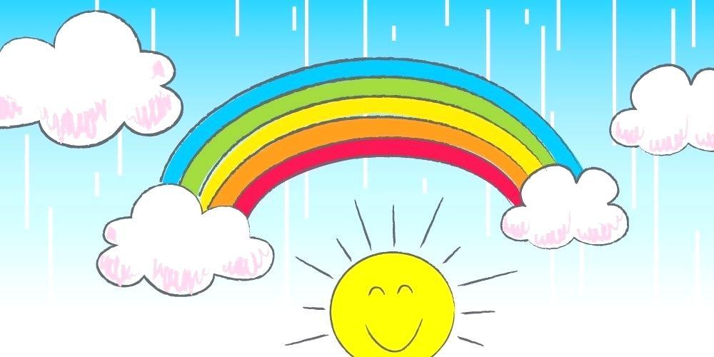 1000x500 rainbow drawing rainbow photo drawing pretty rainbow colors