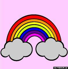 236x240 cartoon rainbow drawing rainbow in rainbow drawing