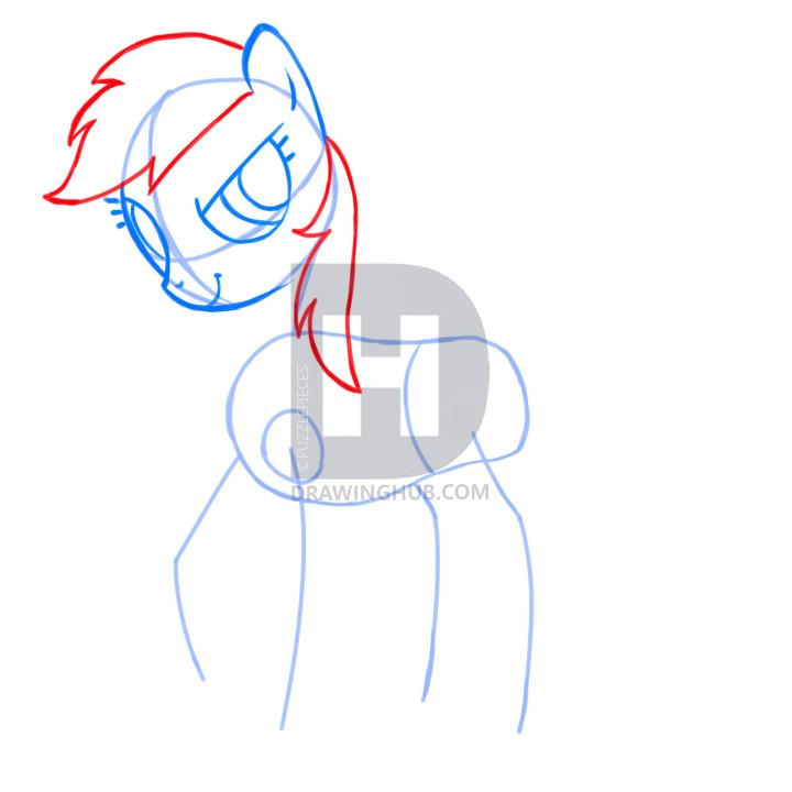 720x720 How To Draw Rainbow Dash, My Little Pony Friendship Is Magic, Step