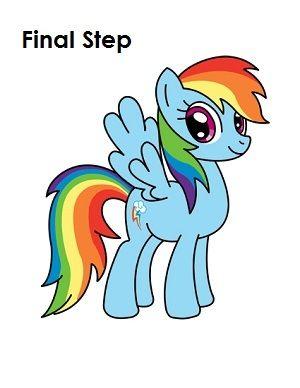 300x388 How To Draw Rainbow Dash Final Step Draw In Rainbow Dash