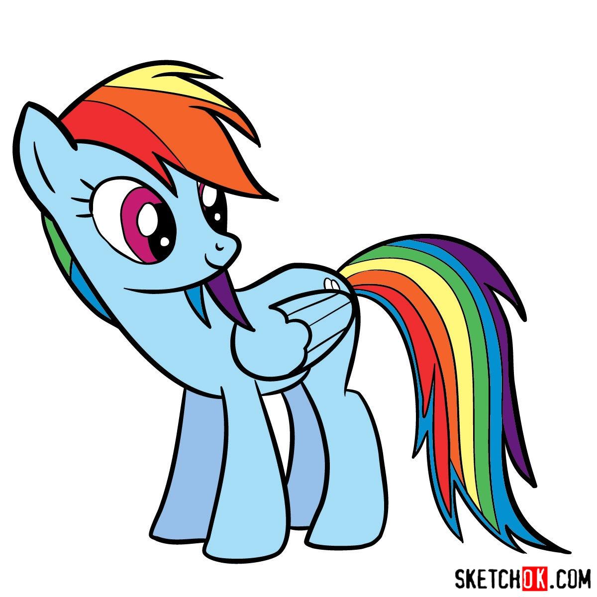 1200x1200 How To Draw Rainbow Dash Pony Mlp