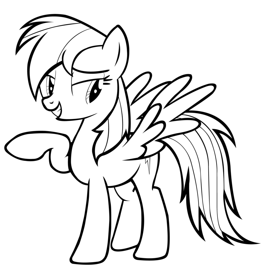 894x894 My Little Pony Coloring Pages Rainbow Dash Rainbow Color Pages