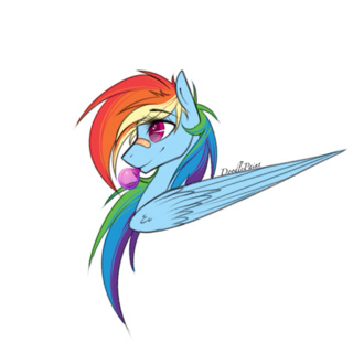 320x320 Quick Rainbow Dash Drawing
