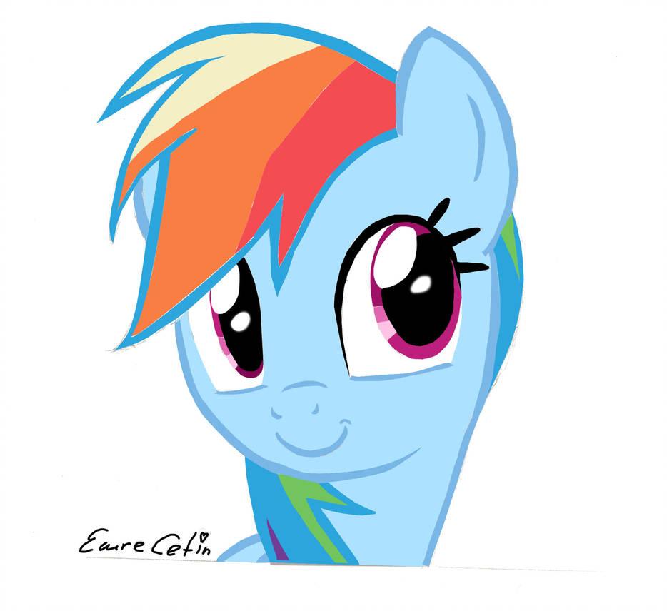 934x856 Rainbow Dash Drawing