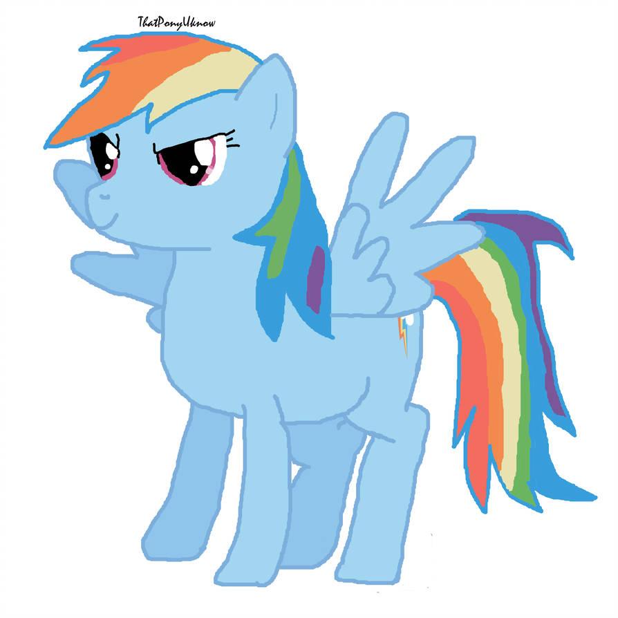 894x894 A Drawing Of Rainbow Dash