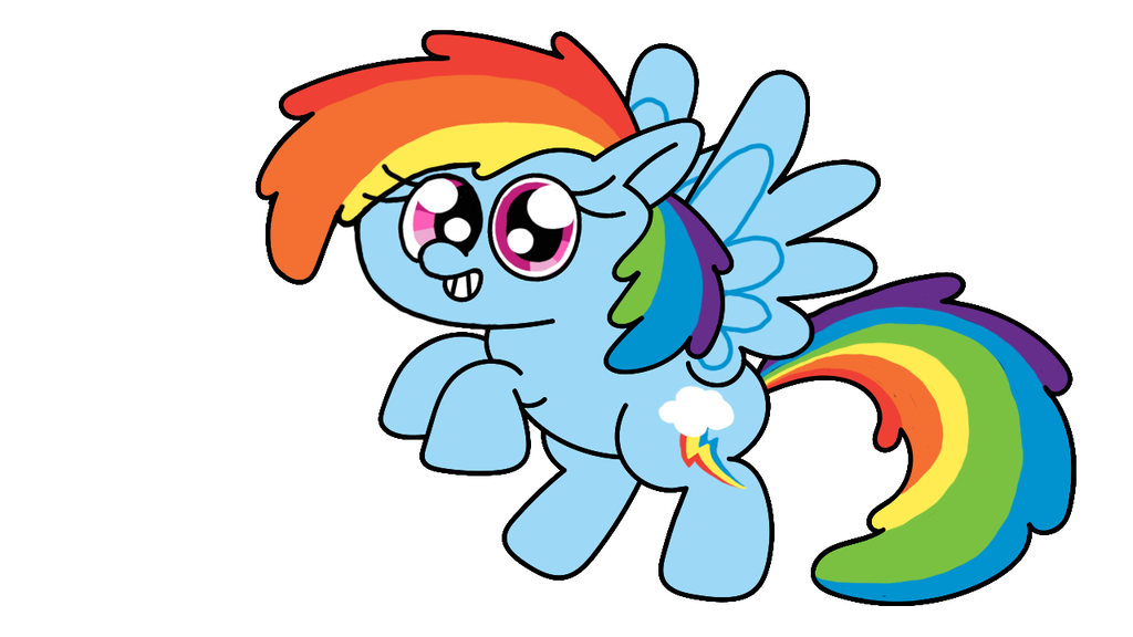 1024x576 Drawing Ponies Rainbow Dash Transparent Png Clipart Free