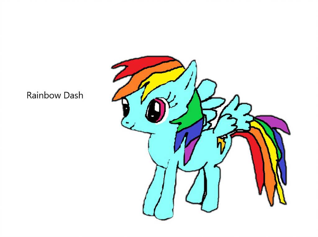1024x763 First Digital Rainbow Dash Drawing