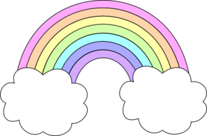 297x195 pastel rainbow clip art creative rainbow clipart, rainbow