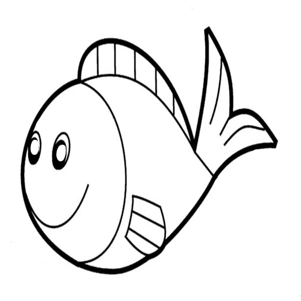 1000x1000 Free Fish Coloring Pages
