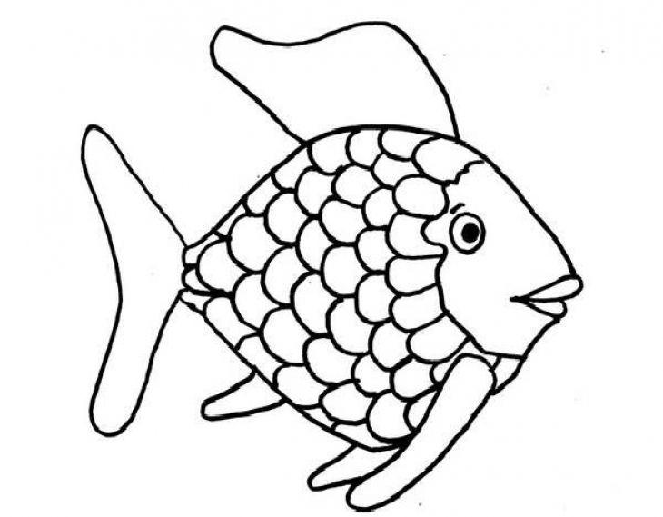 730x569 Kids Printable Rainbow Fish Coloring