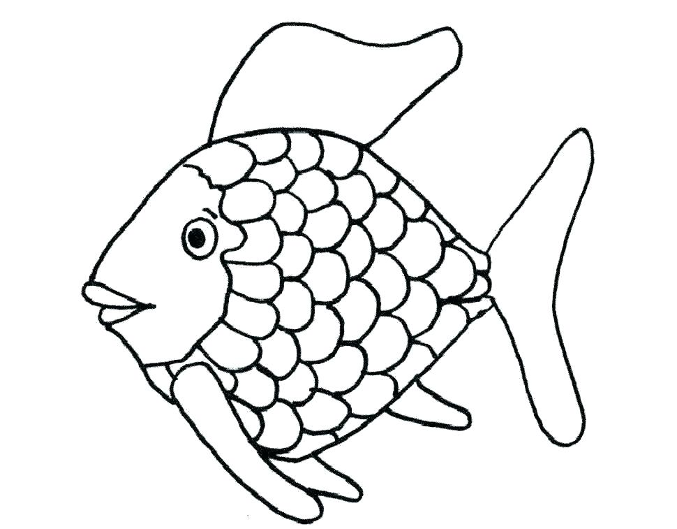 970x757 Printable Fish Coloring Pages Rainbow