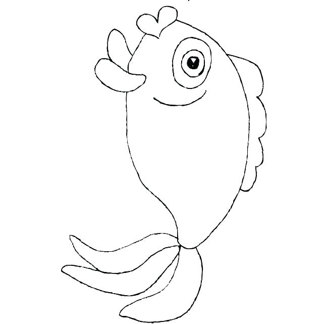 650x641 Printable Fish Fish Template Printable Rainbow Fish Template Scale